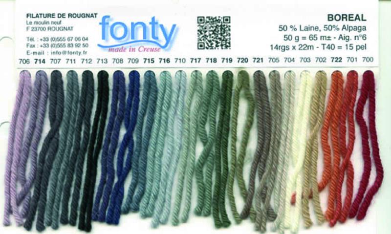 Laine Boréal de Fonty - Gamme couleurs