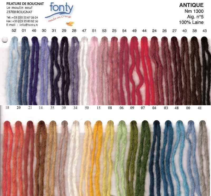 Antique, laine à feutrer by Fonty