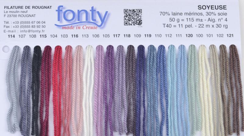 gamme de laine Fonty Soyeuse
